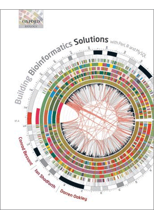 Oxford Biology uses a Circos image for the cover of Building Bioinformatics Solutions (300 x 410)